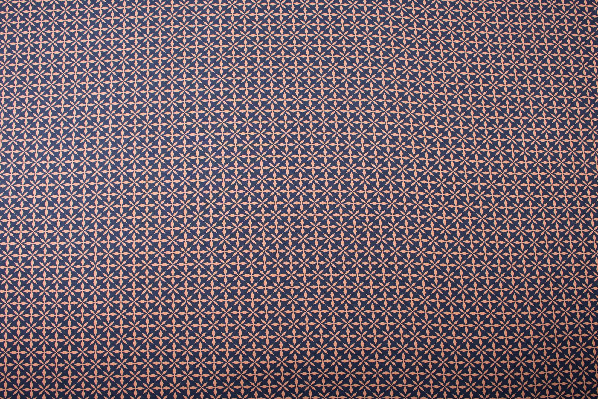 jersey avalana kreuze blau braun skandinavischer stoff jersey stoffe smalino. Black Bedroom Furniture Sets. Home Design Ideas